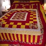 FSU Quilt on Bed
