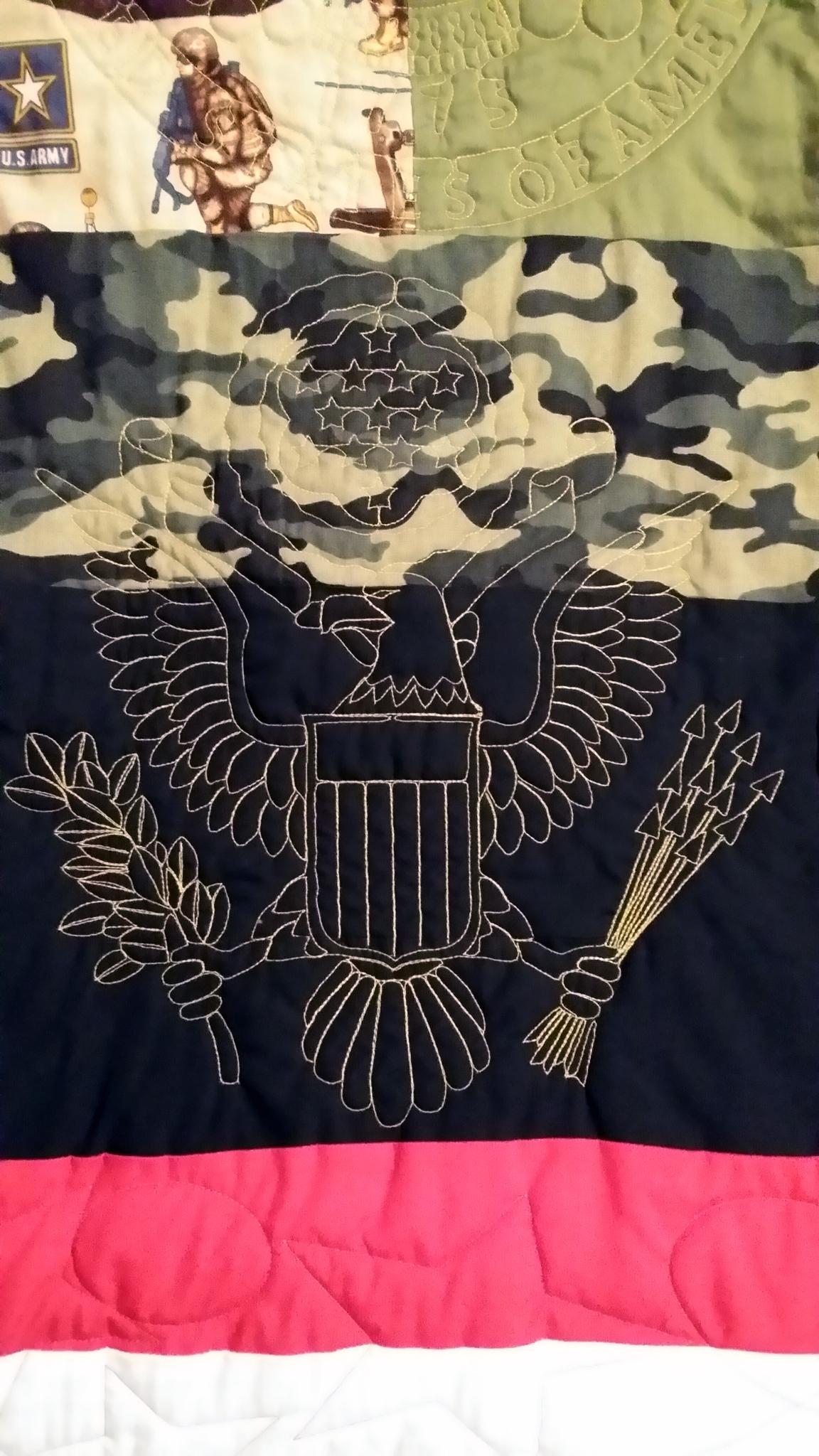 Design on Military Quilt