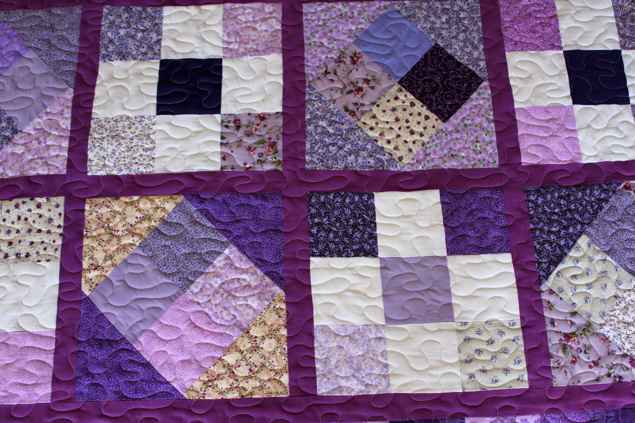 Purple Squares Quilt