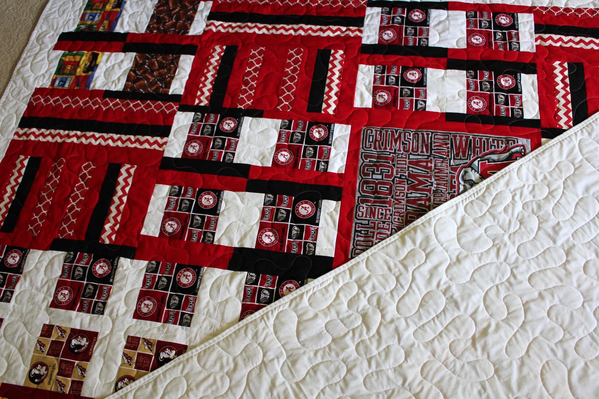 Seminole Crimson Tide Quilt