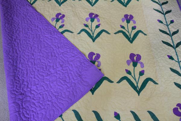 Quilt of Irises