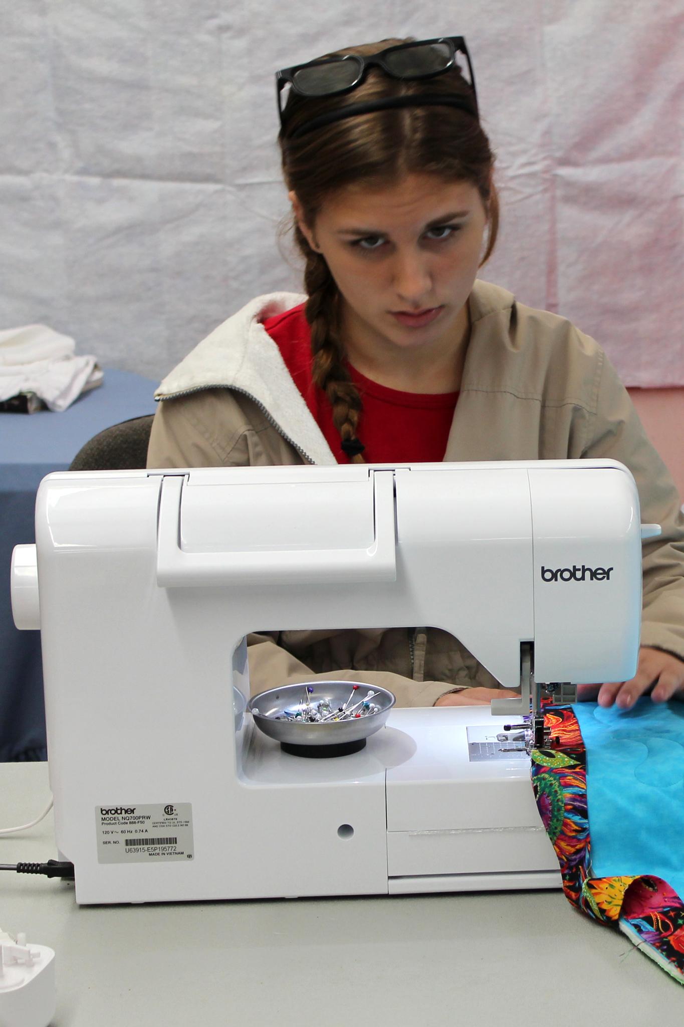 Aubrey Tye sewing