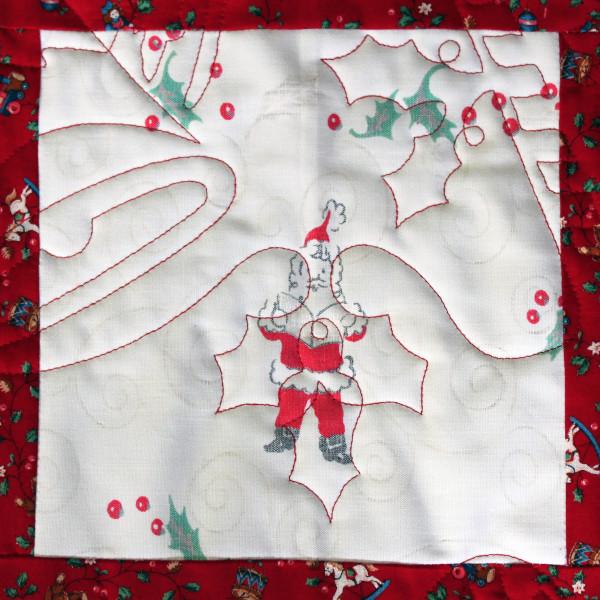 Musical Santa Square Detail