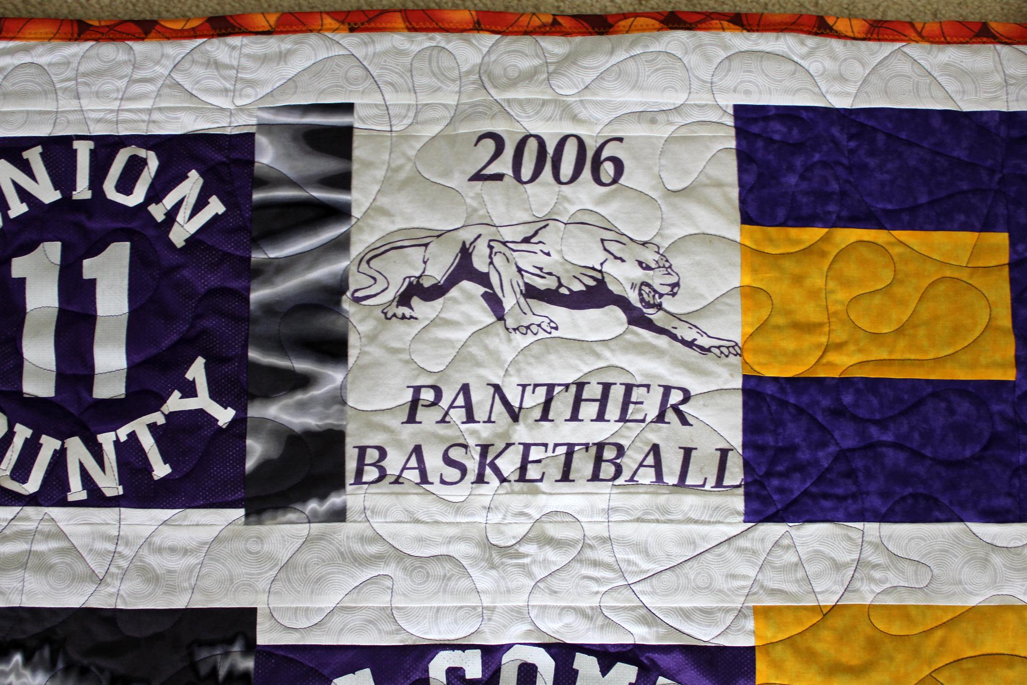 Basketball T-Shirt Quilt