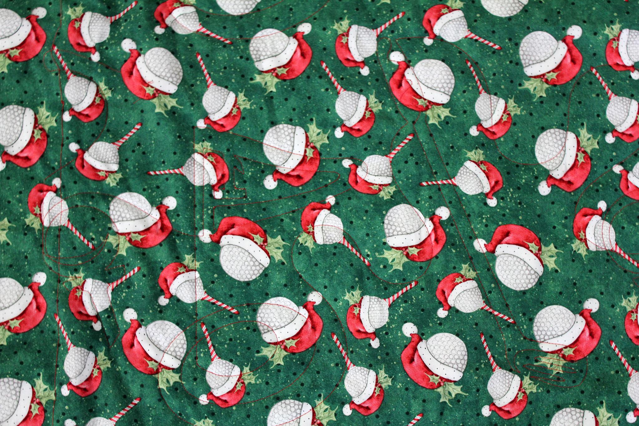 Christmas Tee Golf Throw