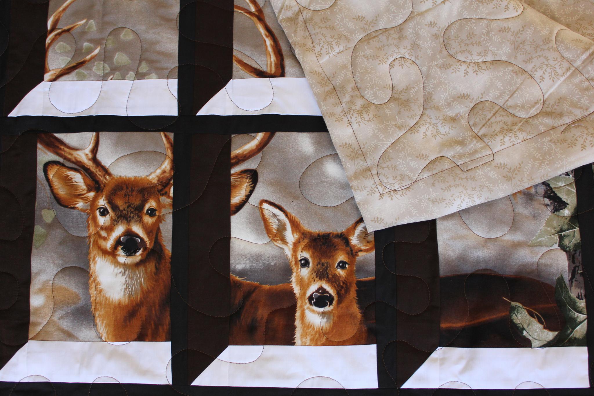Deer in the Attic Window Quilt