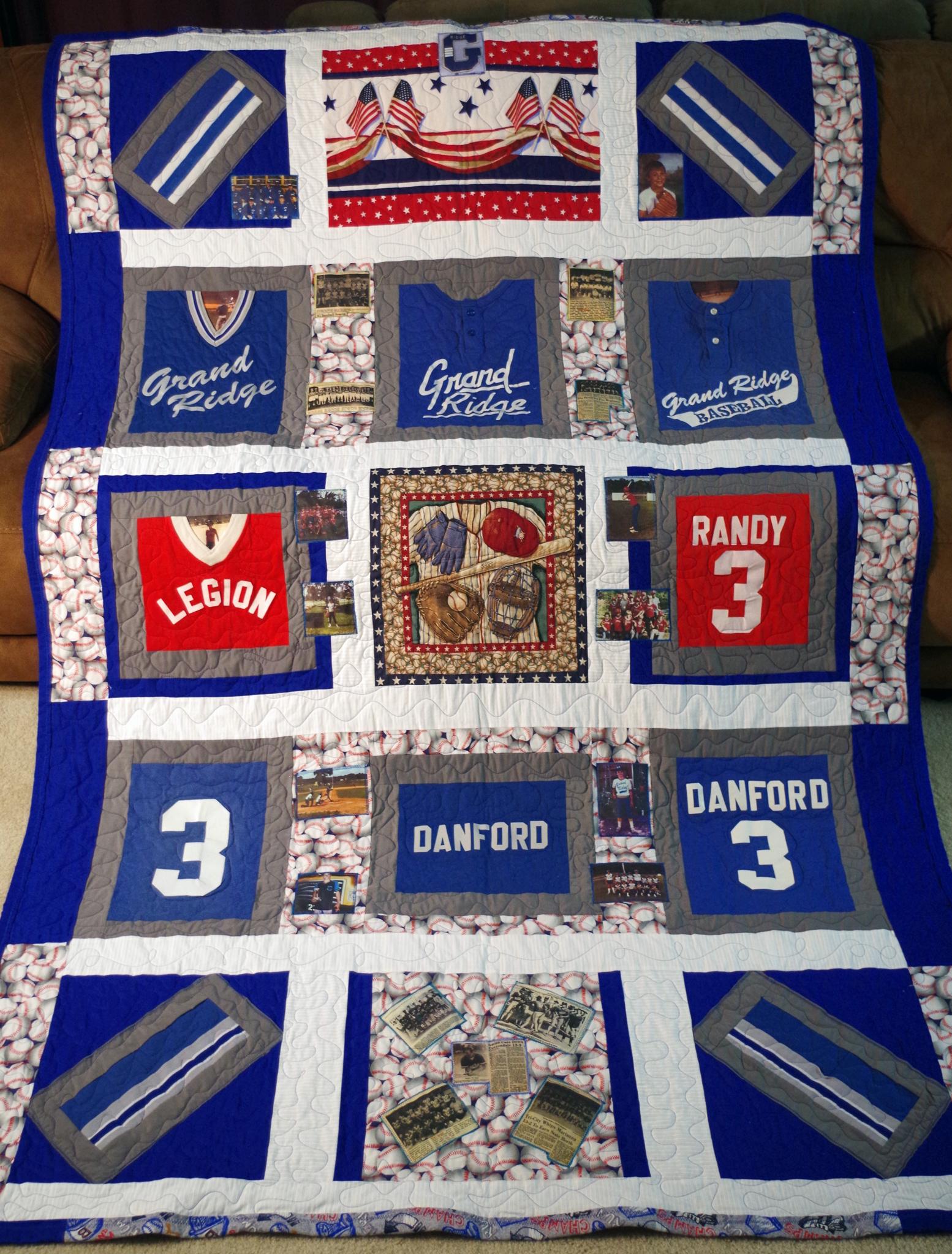 Baseball Quilt for Randy Danford