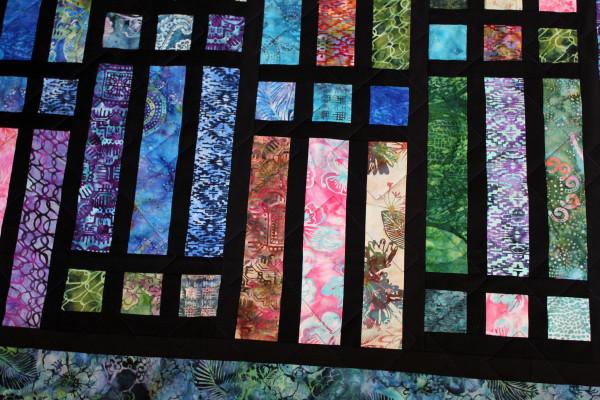 Batik Strip and Frame Quilt