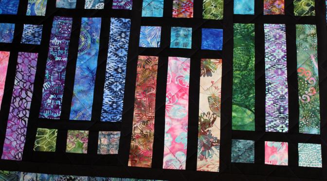 Batik Strip & Frame Quilt