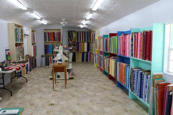 Lady Bird Quilts fabric shop interior