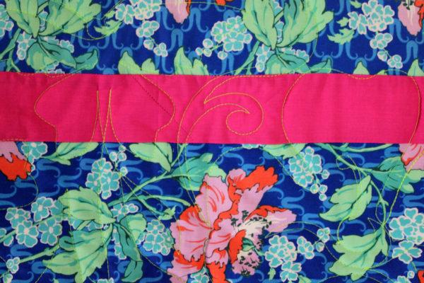Bright Summer Flower Strip Quilt