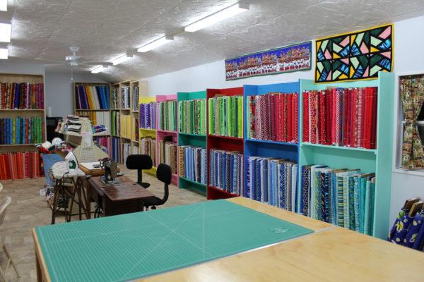 Lady Bird Quilts inside shop