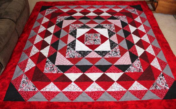 Half Square Triangle Birthday Quilt