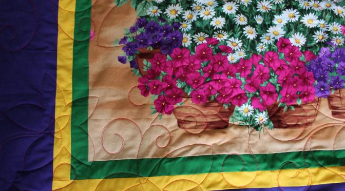 Flower Panel Quilt