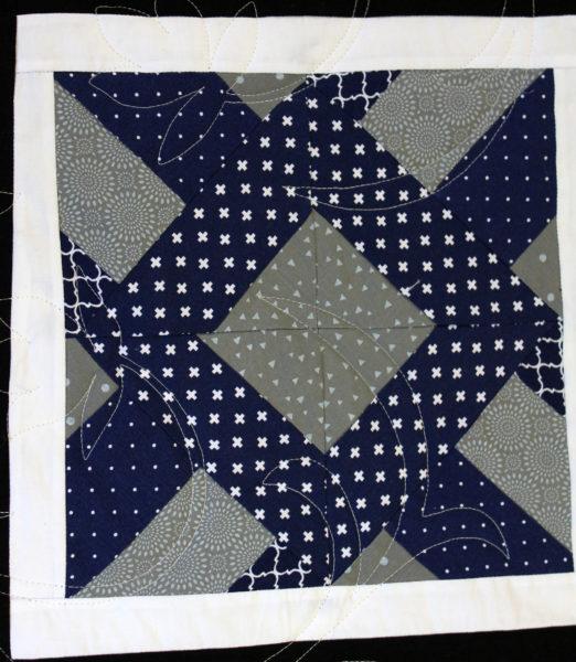 Doubly Striped Half Square Triangle