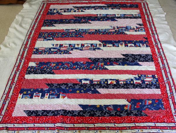Patriotic Strip Quilt