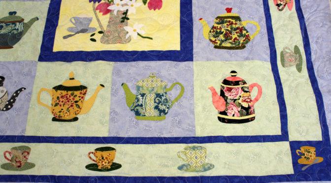 Appliqué Tea Pots & Saucers Quilt