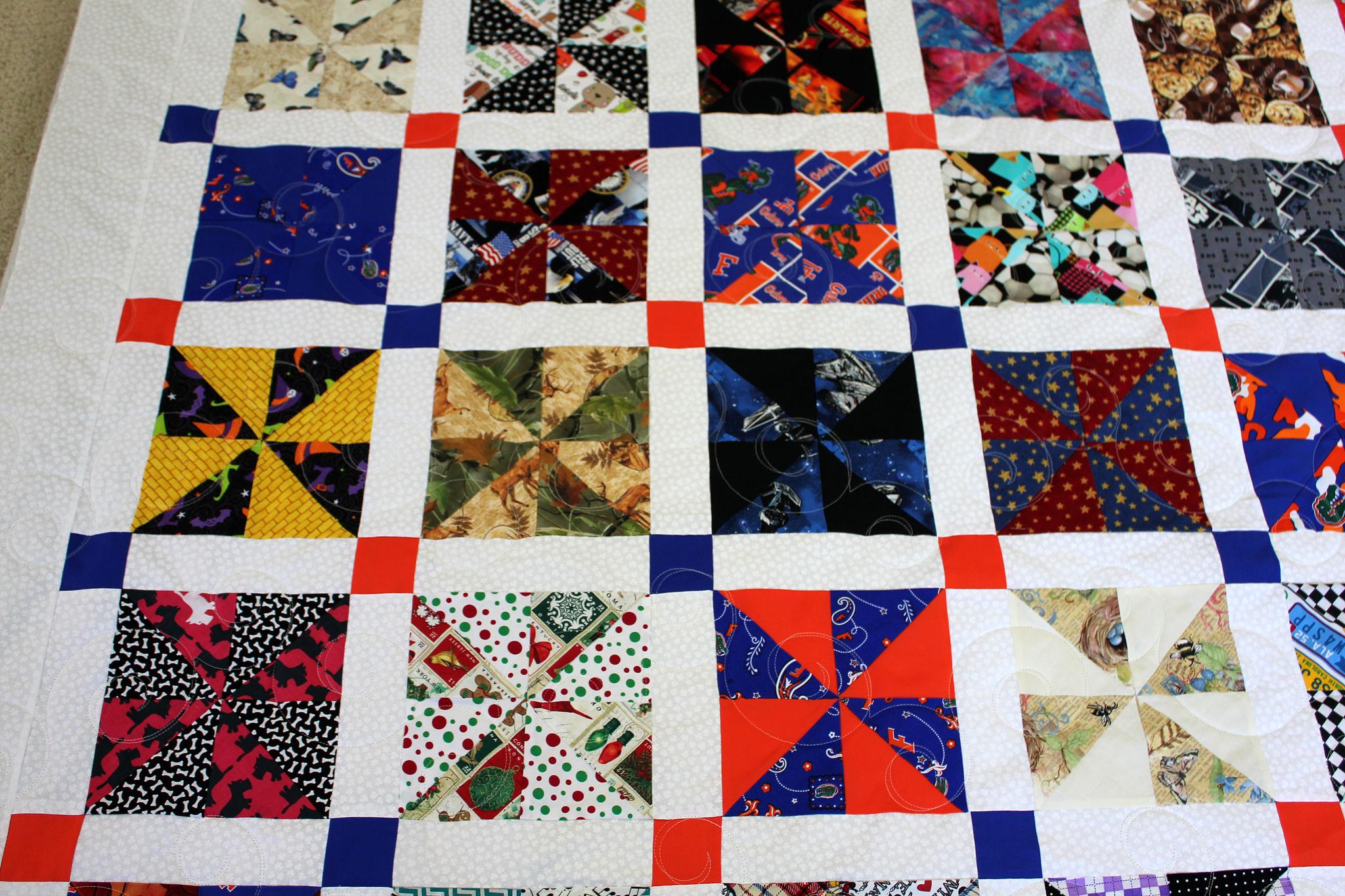 White Clover Pinwheel Quilt
