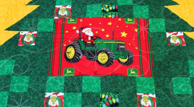 John Deere Christmas Tree Quilt!