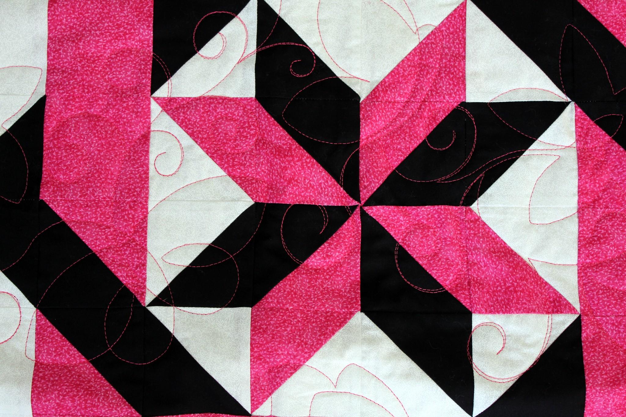 Stars and Interlocking Squares Quilt