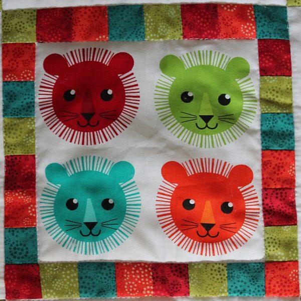 Lion Faces Baby Quilt