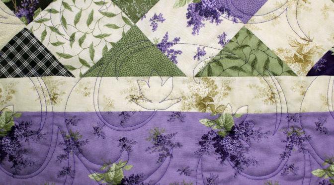 Purple & Green Squares Quilt