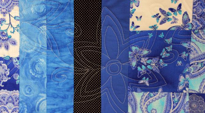 Blue Floral Throw!