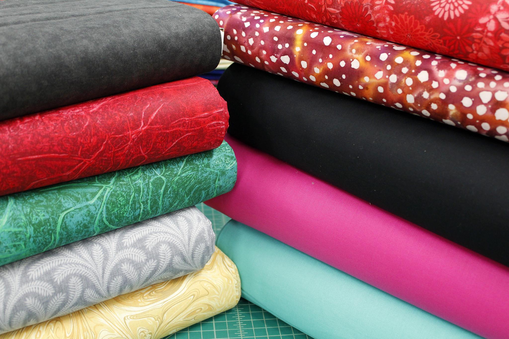 Cotton Prints, Batiks and Solids