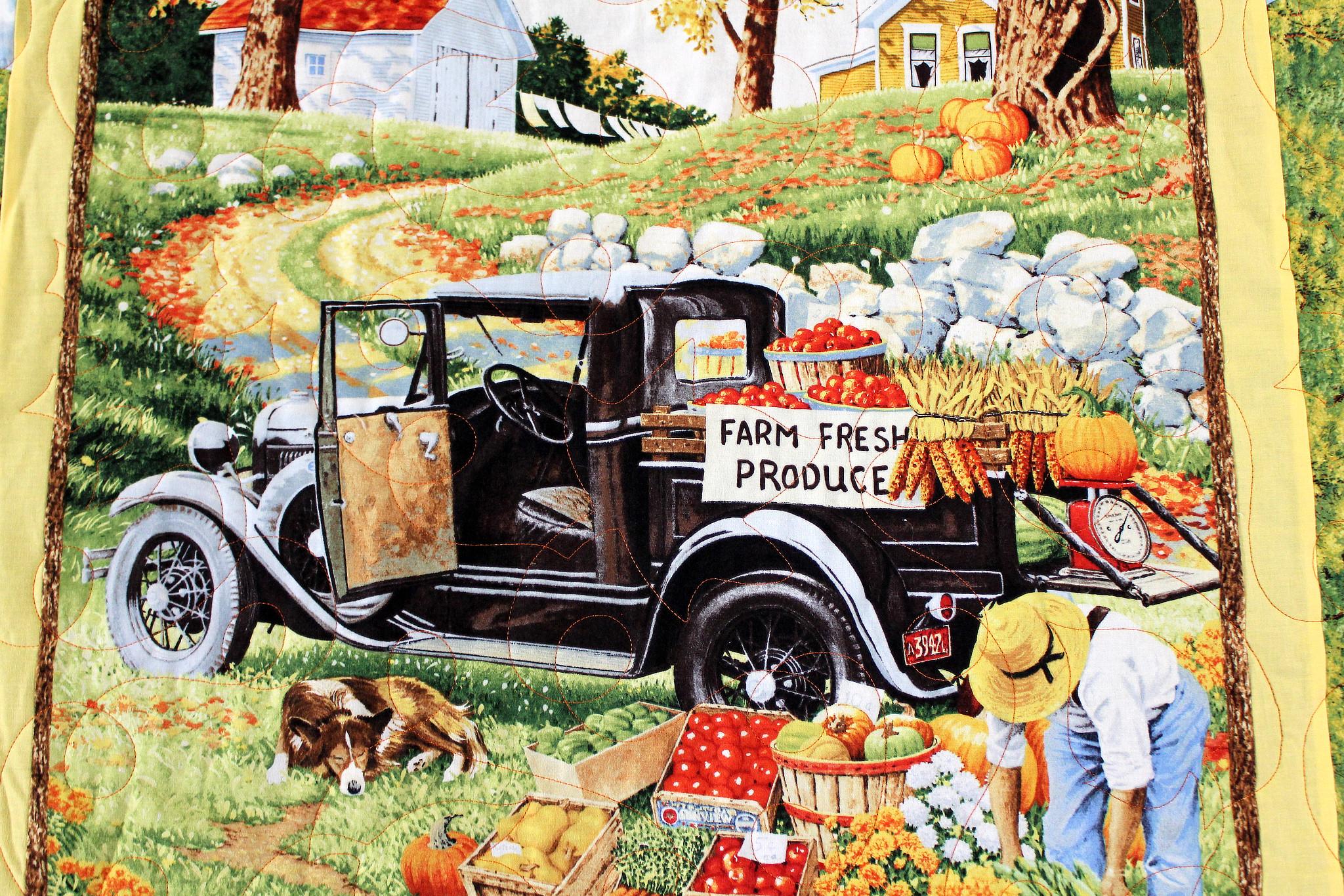 Farm Fresh Produce Throw