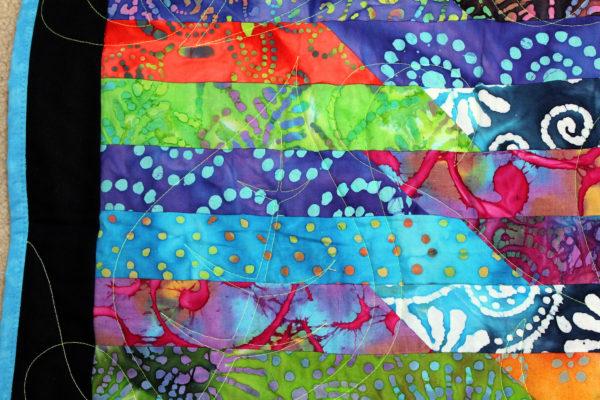 Batik Jelly Roll Throw