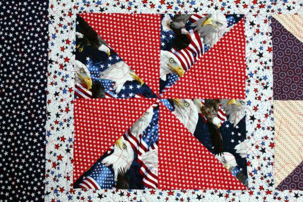 Patriotic Pinwheels Throw