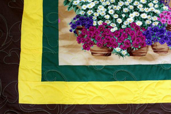 Flower Panel Throw