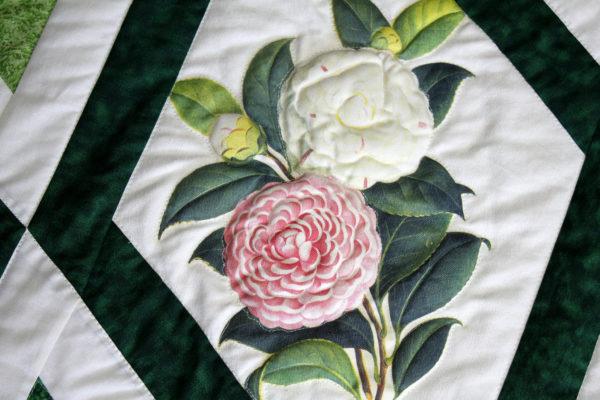 Camellias and Diamonds Quilt