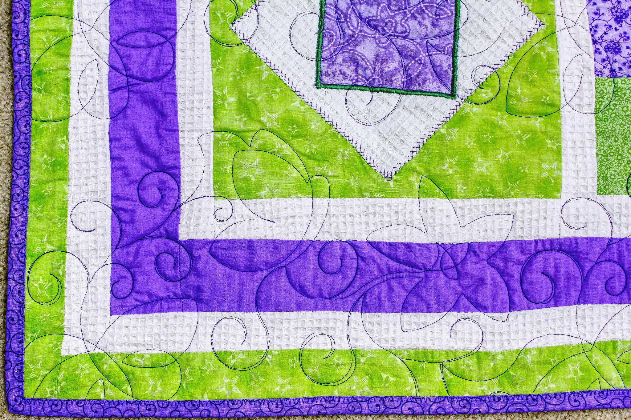 Purple and Green Throw