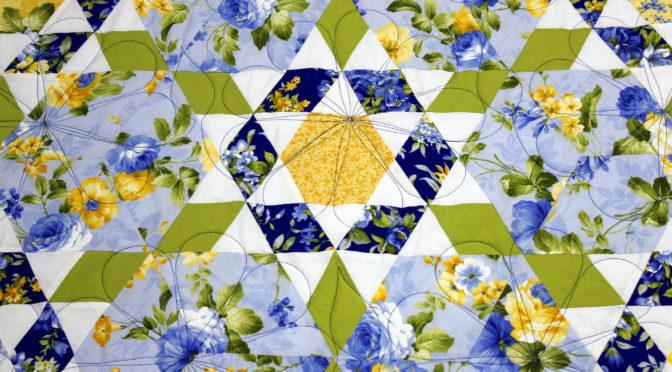Floral Hexagon Quilt