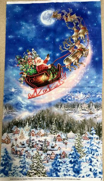 Santa and Sleigh Panel