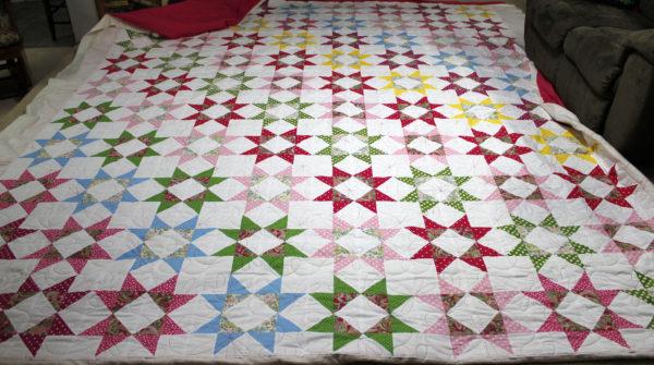 Janice's Polka Dot Star Quilt