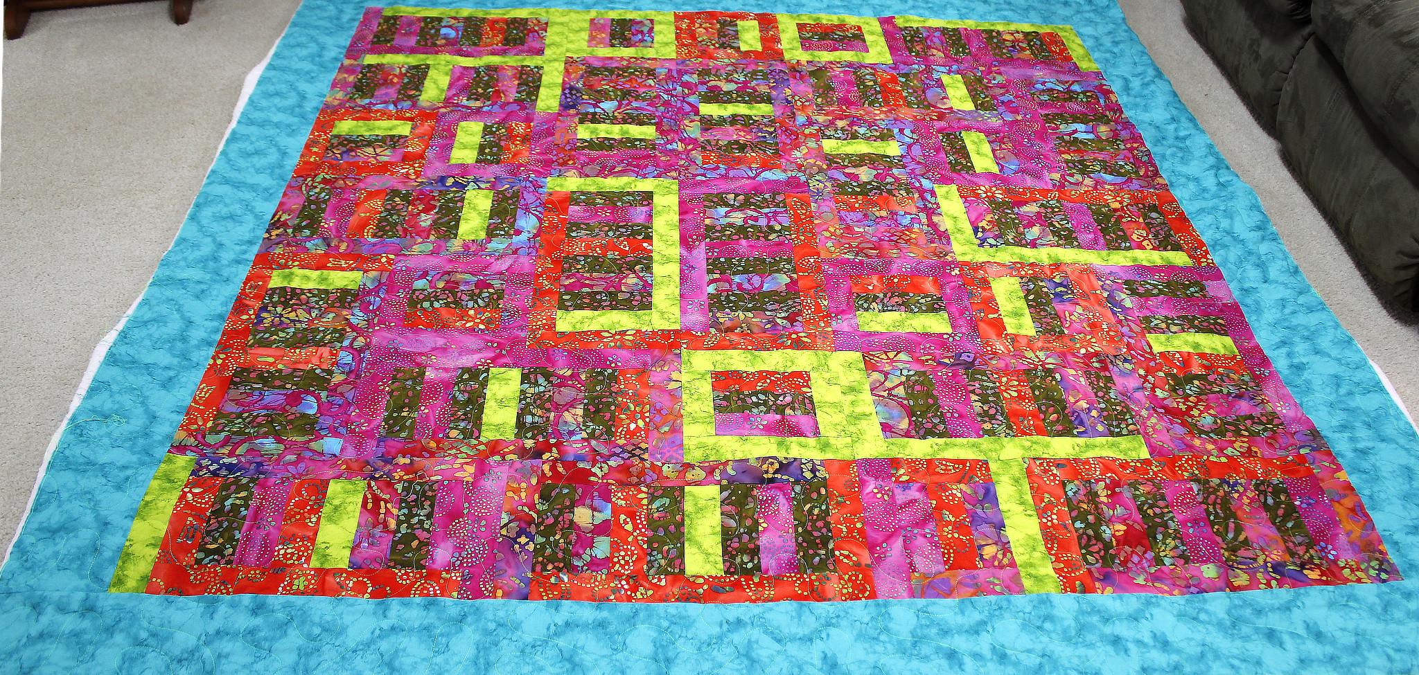 Angela's Batik Jelly Roll Quilt