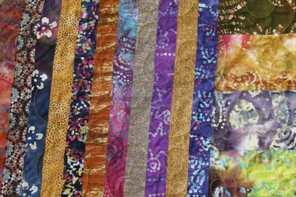 Vickie's Big Bold Batik Quilt