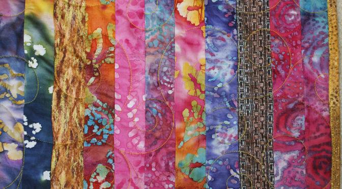 Vickie's Big Bold Batik Quilt!
