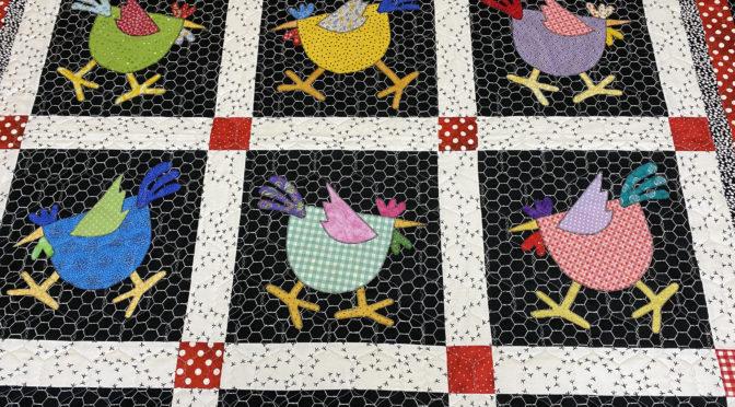 Freida's Chickens Appliqué Quilt!