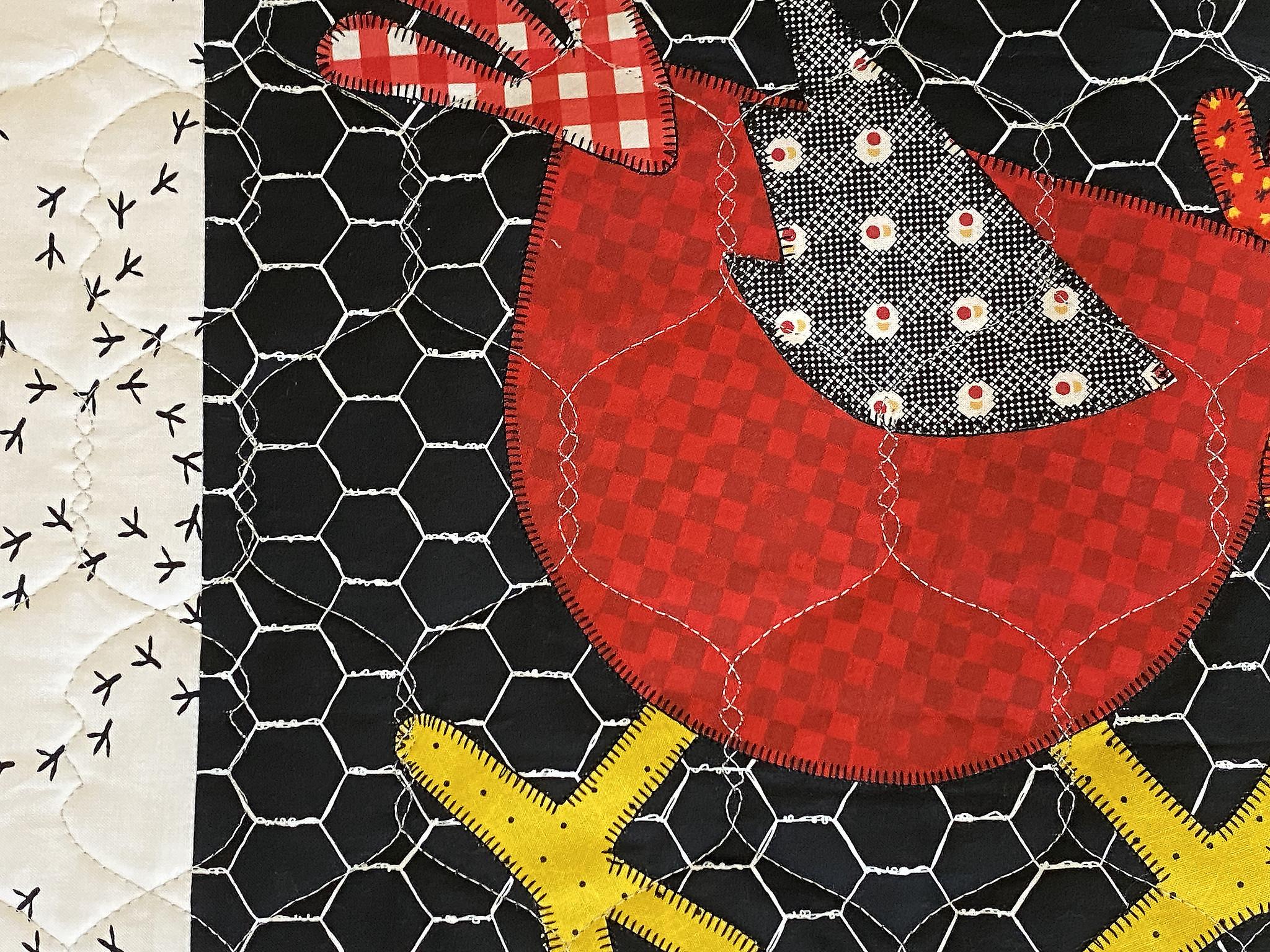 Freida's Chickens Appliqué Quilt