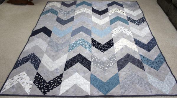Sarah's Chevron Block Quilt