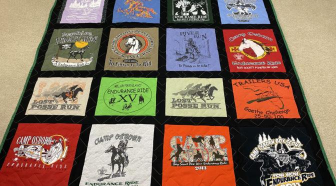 Jill's Endurance Ride T-Shirt Quilt!
