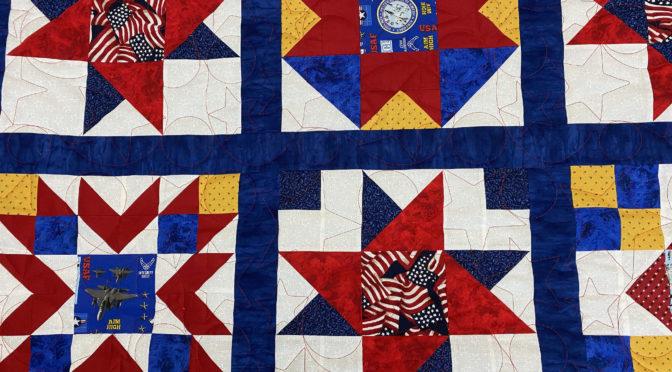 Terry's Patriotic Squares Quilt!
