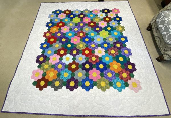 Grandmother's Flower Garden Quilt by Patti