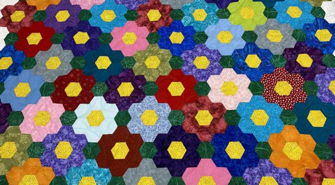 Grandmother's Flower Garden Quilt by Patti!