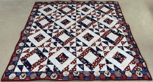 Melanie's Patriotic Half Square Triangle Quilt