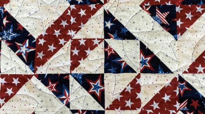 Melanie's Patriotic Half Square Triangle Quilt!