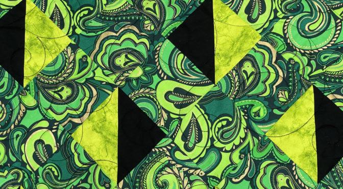 Angela's Black & Green Lattice Quilt!